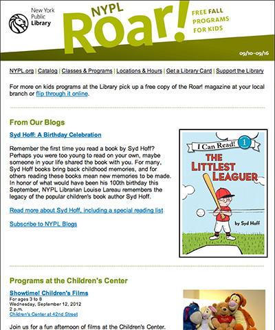 NYPL Roar! Family Programs