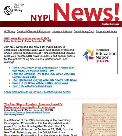 NYPL News sample