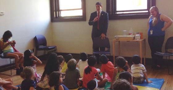 Council Member Ben Kallos visiting 67th Street Library.